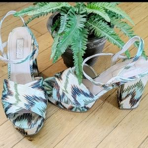Topshop chunky chevron sandals